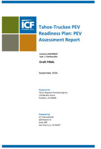 Tahoe-Truckee Plug-in Electric Vehicle Assessment